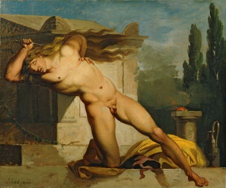Nicolai Abildgaard - Danish Painter -  Adrastus Slaying Himself