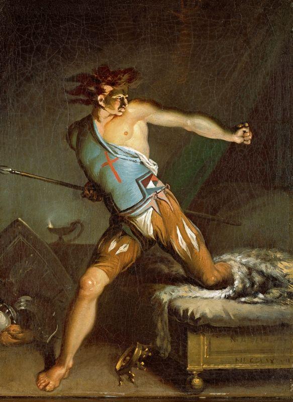 Nicolai Abildgaard - Danish Painter -  Richard III Awakening from his Nightmare
