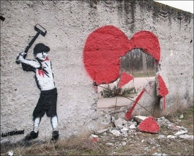Russia With Love - Street Art - Broken Heart