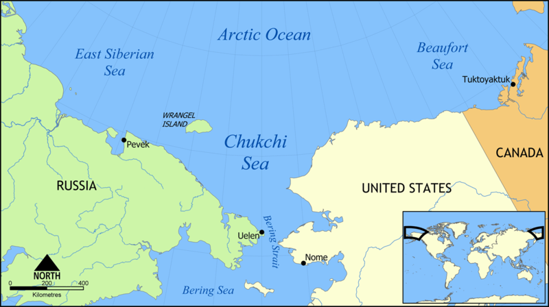 Wrangel Island - Chukchi Sea - Map