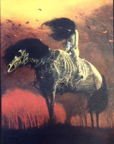 Zdzisław Beksiński - Polish Artist Visions Of Hell - bone horse