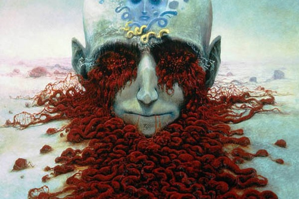 Zdzisław Beksiński - Polish Artist Visions Of Hell - brain guts
