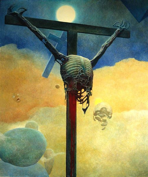 Zdzisław Beksiński - Polish Artist Visions Of Hell - cross 2