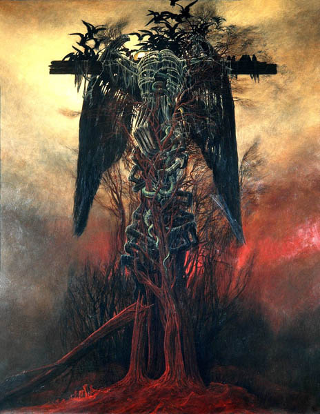 Zdzisław Beksiński - Polish Artist Visions Of Hell - cross