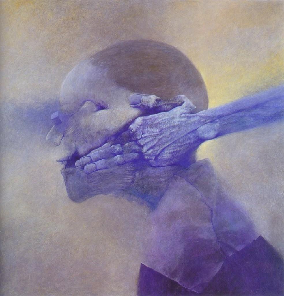 Zdzisław Beksiński - Polish Artist Visions Of Hell - face grip