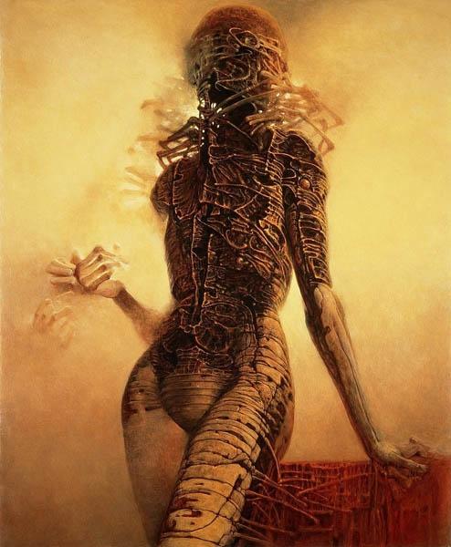 Zdzisław Beksiński - Polish Artist Visions Of Hell - woman