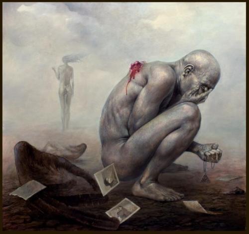 Zdzisław Beksiński - Polish Artist Visions Of Hell - wounded