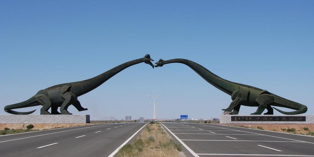 Dinosaur Fairly Land China Mongolia - Kissing dinosaurs 2