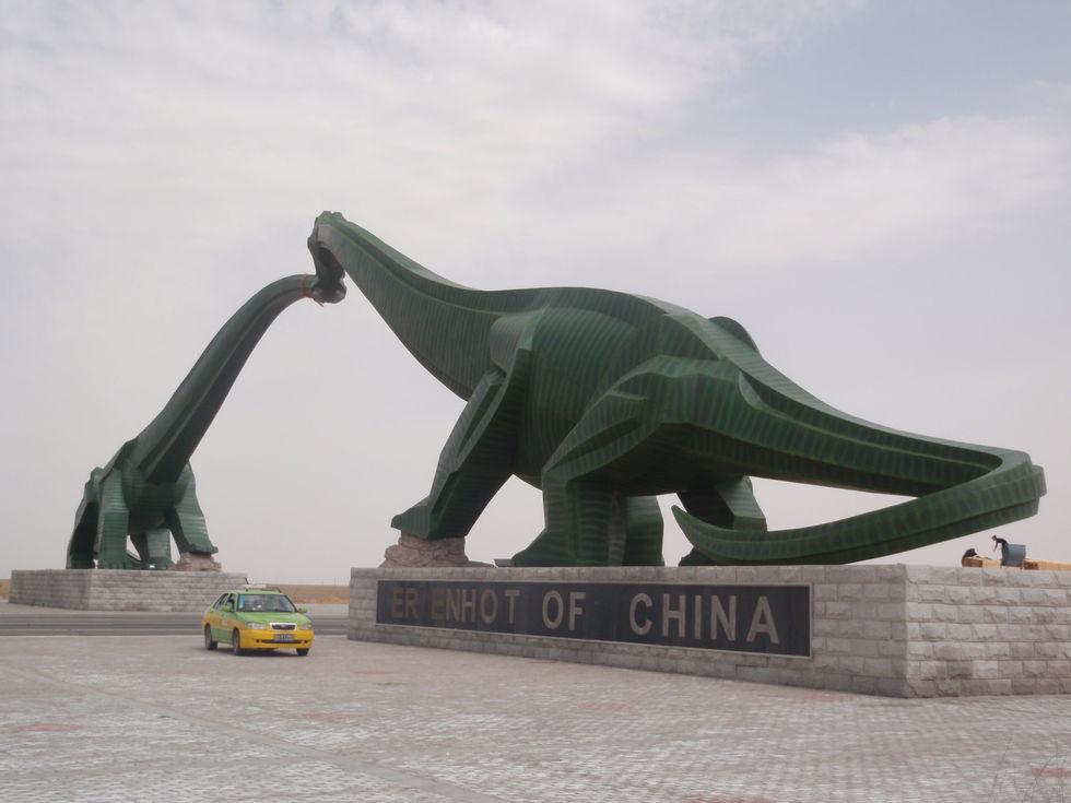 Dinosaur Fairly Land China Mongolia - Kissing dinosaurs