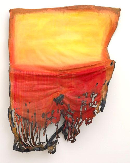 Valerie Hegarty - destructive art - Rothko-Sunset-2007-detail