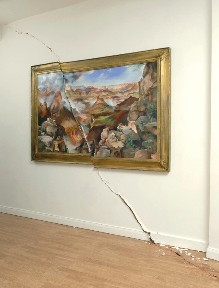 Valerie Hegarty - destructive art - cracked_canyon